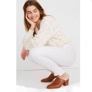 Madewell High Rise Step Hem Skinny Jeans